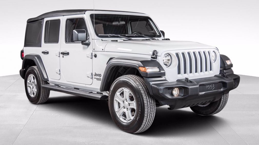 2020 Jeep Wrangler Unlimited Sport S 4x4 BANCS VOLANT CHAUFFANTS DEMARREUR CAME #