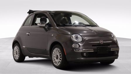 2015 Fiat 500c Lounge AUTO A/C MAGS CUIR TOIT MOU CONVERTIBLE BLU                    à Montréal