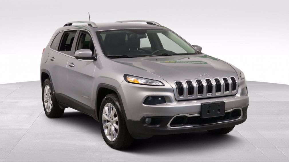 2017 Jeep Cherokee LIMITED 4WD GR ELECT CUIR MAGS CAM RECUL BLUETOOTH #