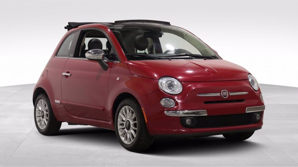 2014 Fiat 500c LOUNGE CONVERIBLE AUTO A/C CUIR MAGS BLUETOOTH #